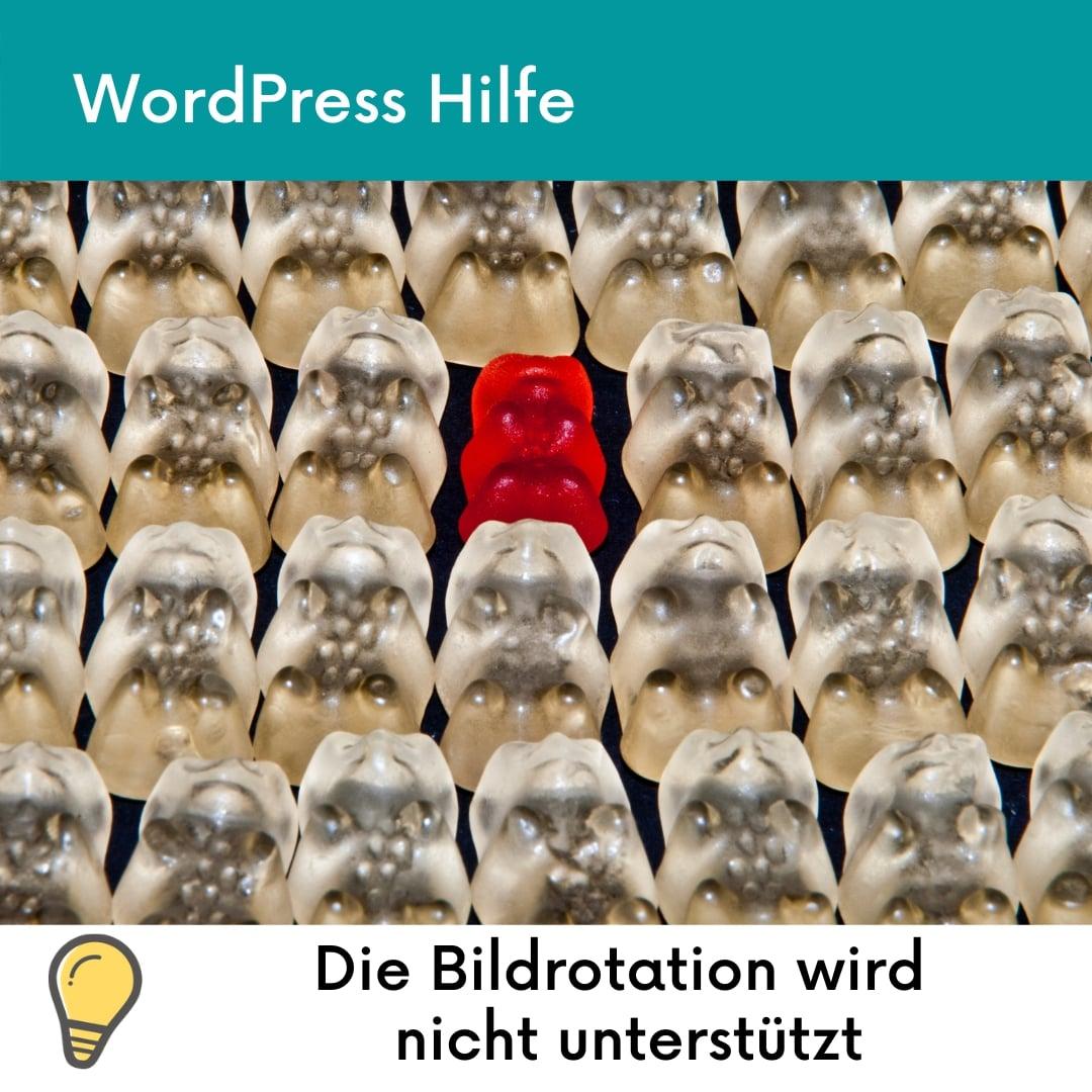 WordPress die bildrotation wird von deinem webhost nicht unterstützt