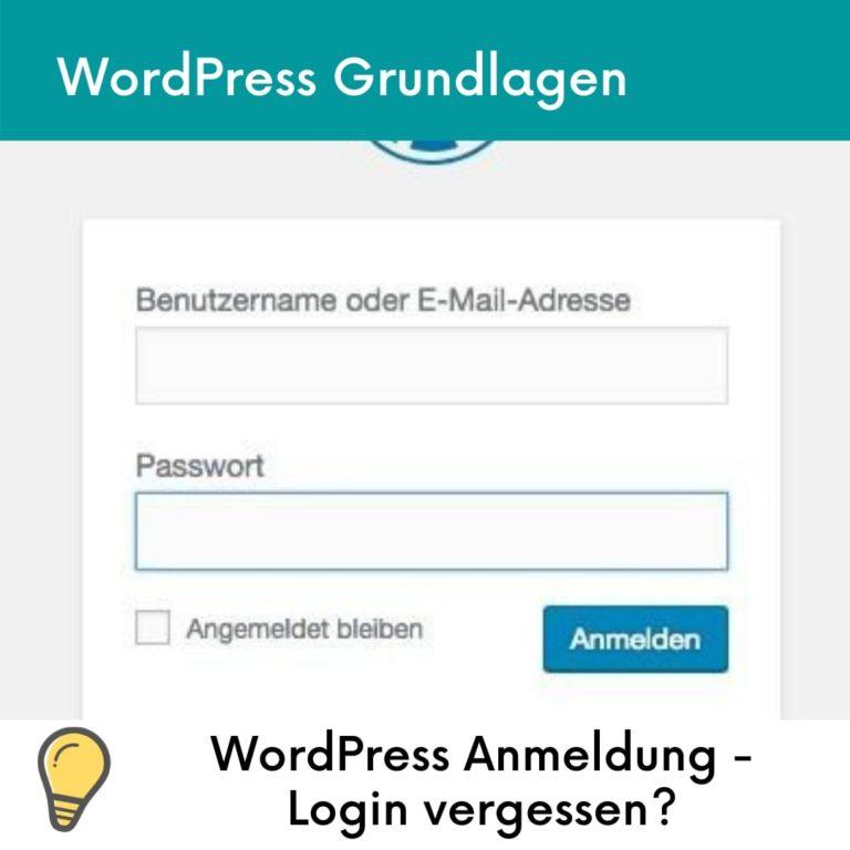 wordpress-login passwort vergessen